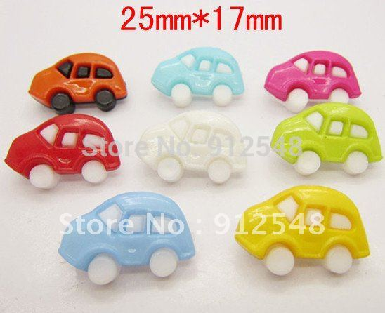 25mm*17mm 100pcs Car plastic buttons flower buttons for children garment ,c002