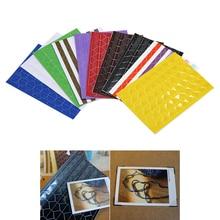 Alta calidad 1020 unids / 10 hojas de alta material hecho a mano accesorios de herramientas de álbum retro esquina de fotos de PVC una variedad de colores