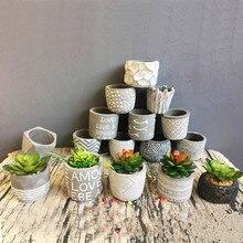 Nature Cement Flowerpot Mini Cube Succulent Plant Pots Ceramic Vase Bonsai Planters Gardening and Baskets Decorative A $