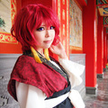 Yona of the Dawn Yona Wine Red Short Ver Curly Cosplay Wig