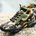 Zapatos Para Caminar al aire libre Escalada Zapatos de Los Hombres 2016 Marca Casual zapatos de Lona antideslizante Camuflaje Tamaño 39-44 Calzado deportivo hombres