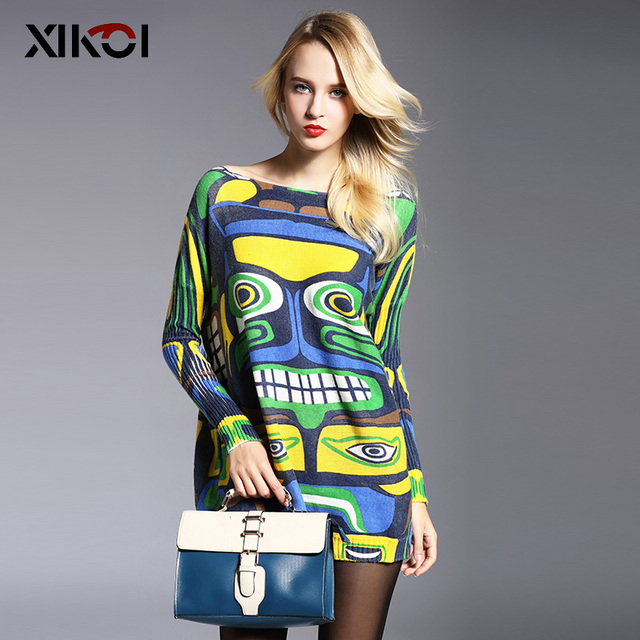 2017 New Autumn Long Women Sweater Clothing Casual Novelty Women's Sweaters Pullovers Fashion Print Ladies Pullover Clothes