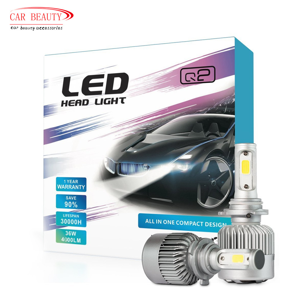 2020 NEW H4 H7 H11 H1 H3 9005 9006 Car LED Headlight Bulb 8000LM 6000k 72W Automobiles LED Headlamp ALL-IN-ONE Car Styling image