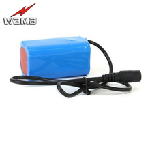 8000mAh 3.7V Li-Ion 4-series 18650 Rechargeable Battery Packs For Emergency Headlamp LED FlashLight Torch 4pcs in Parallel