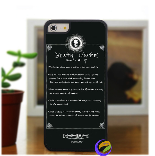 separation shoes 89d80 007b0 US $6.99 |Death Note Rules fashion case cover for iphone 5 5S 4 4S 5C for 6  & 6plus on Aliexpress.com | Alibaba Group