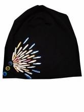 B-17813 мода 100% хлопок Хорошая растяжка капли Воды кристалл шапочки цветов кристаллы цветок hat твердые шапочка дизайн пользовательского