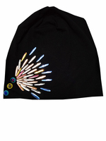 B 17813 Fashion 100 Cotton Good Stretch Water Droplets Crystal Beanies Colors Crystals Flower Hat Solid