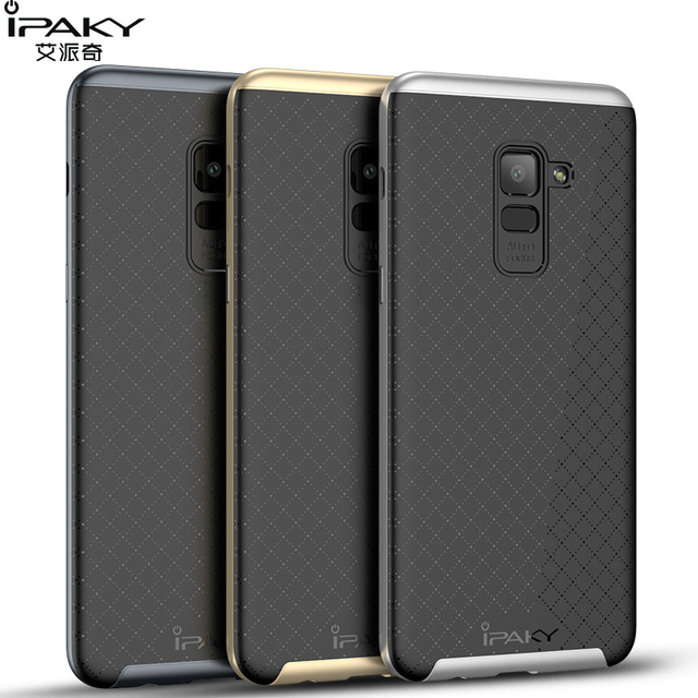separation shoes 3423c c9372 US $4.99 |iPaky For Samsung Galaxy A8 2018 Case Classic Armor Silicone Back  Cover For Samsung Galaxy A8 Plus 2018 Phone Cases Shockproof-in Fitted ...