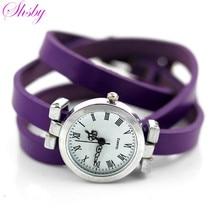 Shsby Новая мода Горячая распродажа! женские длинные кожаные женские часы Рома старинные часы Женщины платье часы