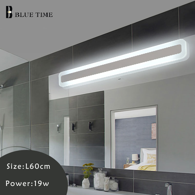 Acrylic Bathroom Lamp Modern LED Wall Light Sconce Wall Lamp For Bedroom Bathroom Mirror Front Light Wandlamp 120 100 80 60CM lamp wall wall bathroom bathroom light headboard waterproof 12w lamp front bedroom led for 55cm mirror lamp led sconce
