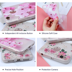 Image 5 - Soft TPU Phone Cases For Xiaomi 9 Case For Xiaomi Mi5S Mi5X Mi6 Mi6X Mi8 8SE 8Lite Relief Floral Phone Covers For Pocophone F1