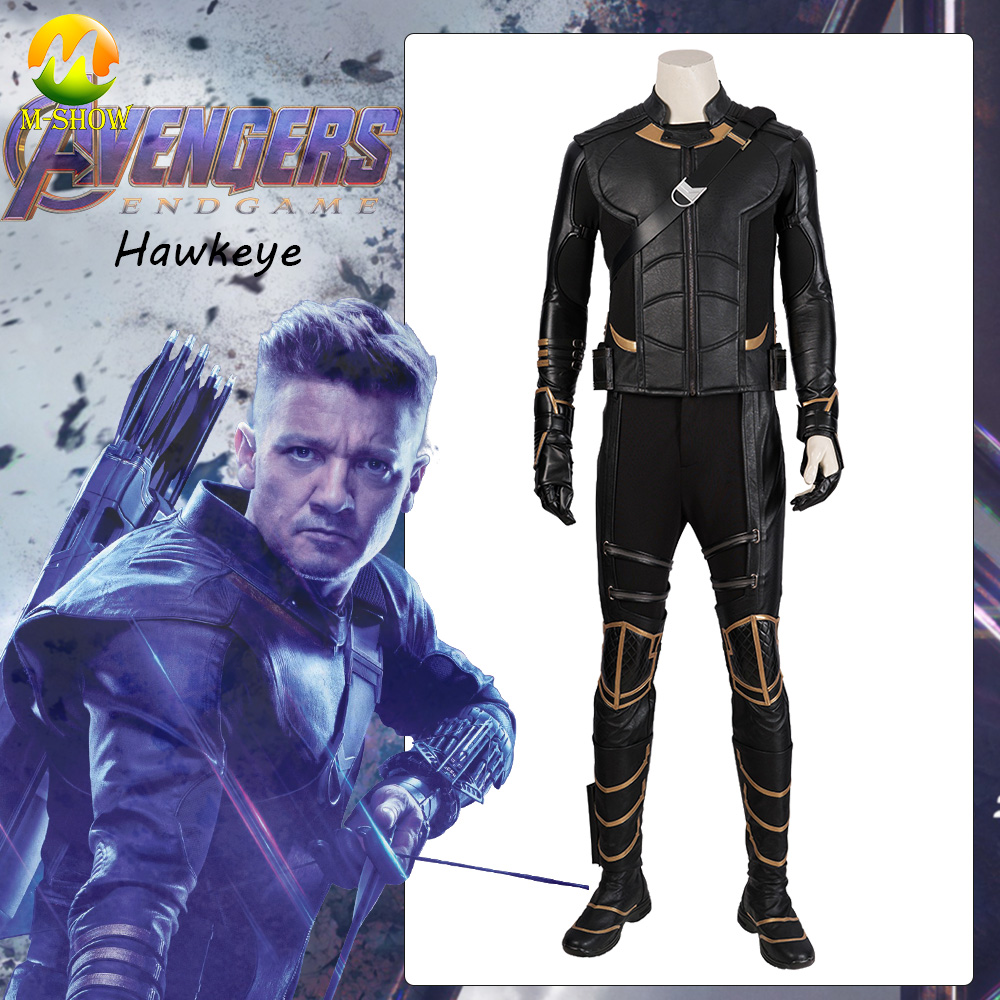 2019 Avengers Endgame Hawkeye Cosplay Costume Avengers 4 Clinton Barton Cosplay Outfit Full Set Halloween Battle