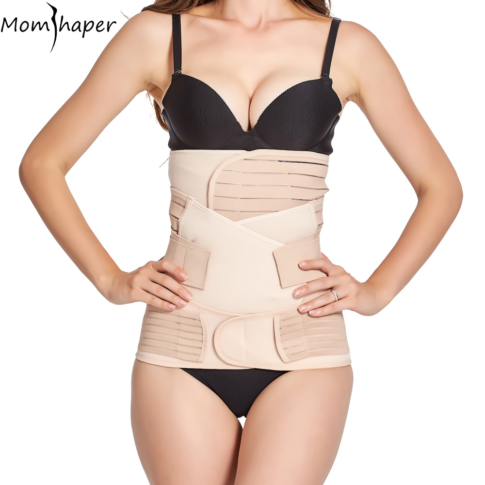 44b9ced148 3 Pieces Set Bandage Maternity Postnatal Belt Pregnancy Bandage Belly Band  waist corset Pregnant Women Slim Shapers underwear