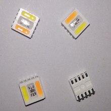 100 100ชิ้น5050 RGB + CCTนำชิป5050 RGBWW led 5050สนั่นSMDลูกปัดสีขาวอบอุ่นสีขาว+ 5050RGB 5 in1