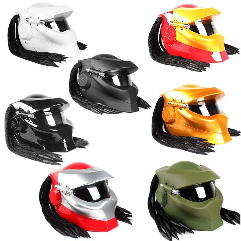 Casque de moto intégral diable casque de guerrier du sang de fer casque de personnalité antique Harley casque de moto de nuit démon