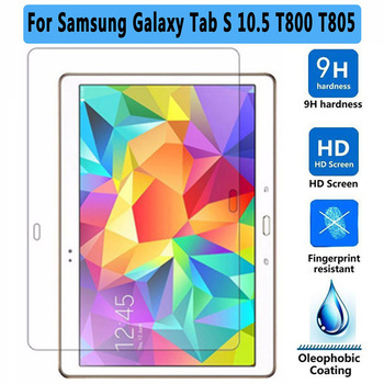 цена на Tempered Glass For Samsung Galaxy Tab S 10.5 T800 Tempered Glass for Samsung Tab S T805 Screen Protector Tablet Protective Film