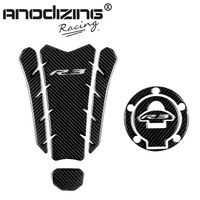 3D ADESIVI MOTO Sticker Decal Emblem Protection Tank Pad Gas Cap two part combination for YAMAHA YZF R3 R3
