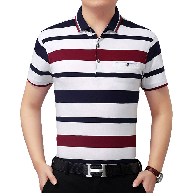 899ae3b6c Chest pocket Tricolor Striped Polo Shirts Men Clothes 2018 Short Sleeve Polo  Men's Casual Regular fit Cotton Polos Para Hombre-in Polo from Men's  Clothing ...