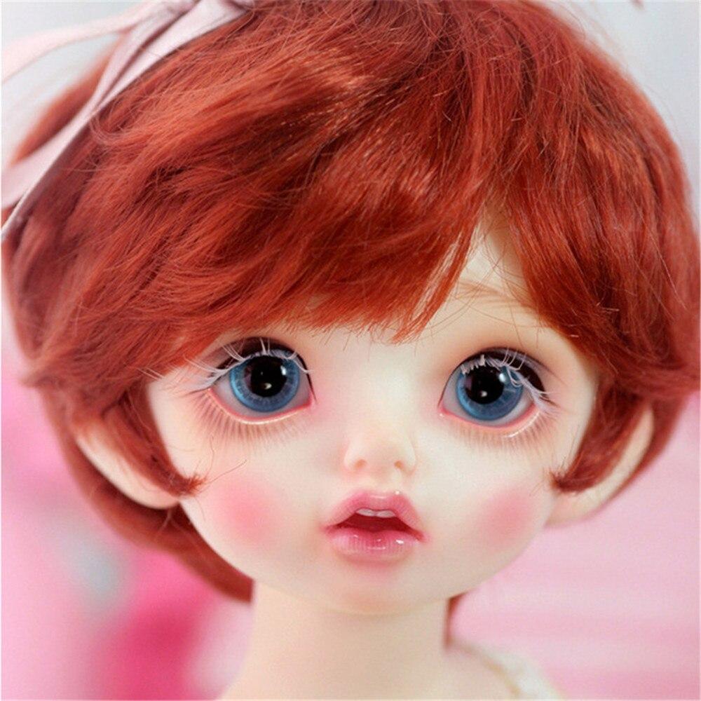 AQK(AQK)BJD SD doll imda 3.0 Colette 1/6 baby girl 1 3 1 4 1 6 1 8 1 12 bjd wigs fashion light gray fur wig bjd sd short wig for diy dollfie