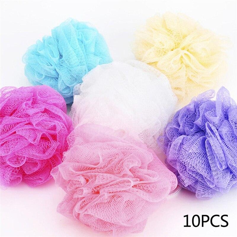10pcs Bath Body Works Large Sponge Loofah Flower Exfoliating Shower Mesh Scrubber Soft Body Bubbles Sponge Random Color(China)