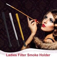 Vintage Slim Cigarette Telescopic Holder Filter Smoke Ladies Cigarette Holder Long Cigarette Holder Stylish Women's Smoking Pipe