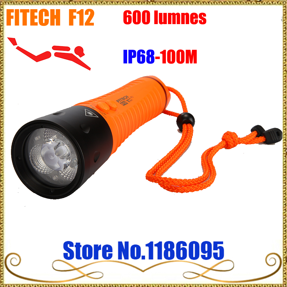 2017 Underwater FITECH F12 Diving 100M Flashlight 600 lumens Cree XML U2 LED Torch Waterproof Lamp Light can as Power bank sitemap 51 xml