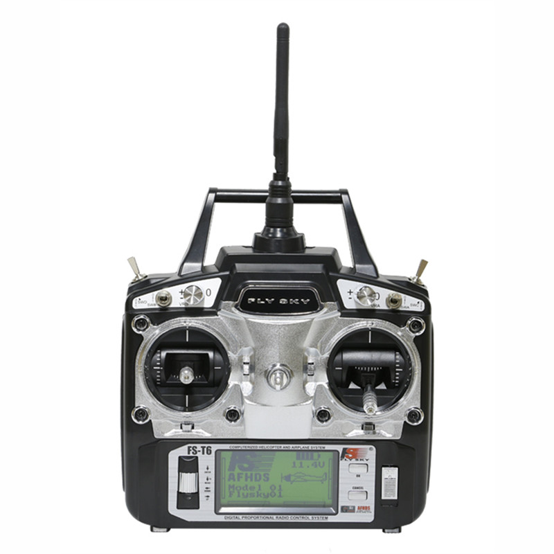 Tarot-RC FlySky FS-T6 2.4G 6CH TX RX FS-R6B RC Radio Control Transmitter Receiver System for helicopter flysky fs gt2b 2ch transmitter fs gr3e receiver tx rc car boat controller radio 2 4ghz