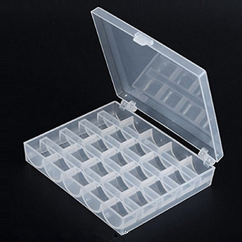 Image 4 - 25Pc Sewing Machine Bobbins Spools Empty Bobbins Spools Sewing Machine Plastic Storage Box For Home Sewing Accessories Tools-in Sewing Tools & Accessory from Home & Garden