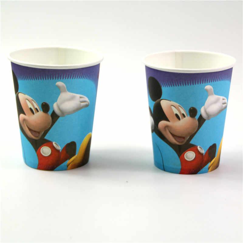 61 pcs Mickey Mouse Crianças Meninos Fontes do Partido de Aniversário Loot saco conjunto Copo Prato Toalha de Mesa Decorações Do Partido para o 20 crianças