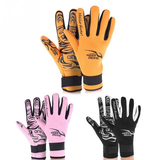 Colorful Patterned Diving Gloves