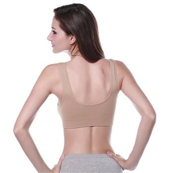 Outdoor Women Comfortable Yoga Vest Seamless Fitness Sports Bra Tops Gym Underwear Bras 3 Colors 8