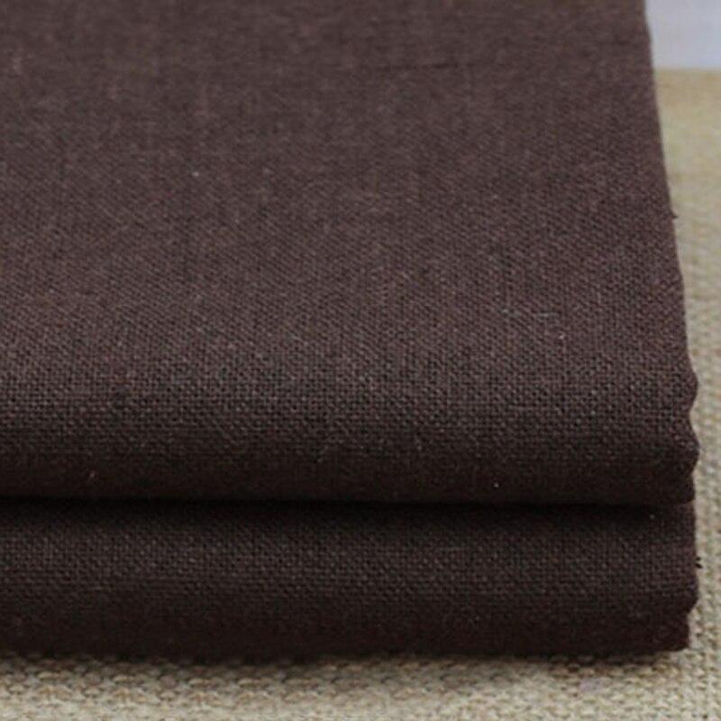 100cm*140cm natural linen material bags table cloth zakka linen fabric plain dyed coffee cotton linen material