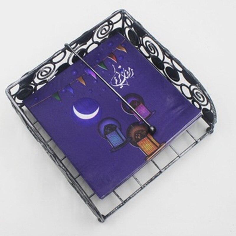 20pcs Ramadan decoration napkin the month of fast EID MUBARAK decor for home Muslim Festival party supplies EID facial tissue