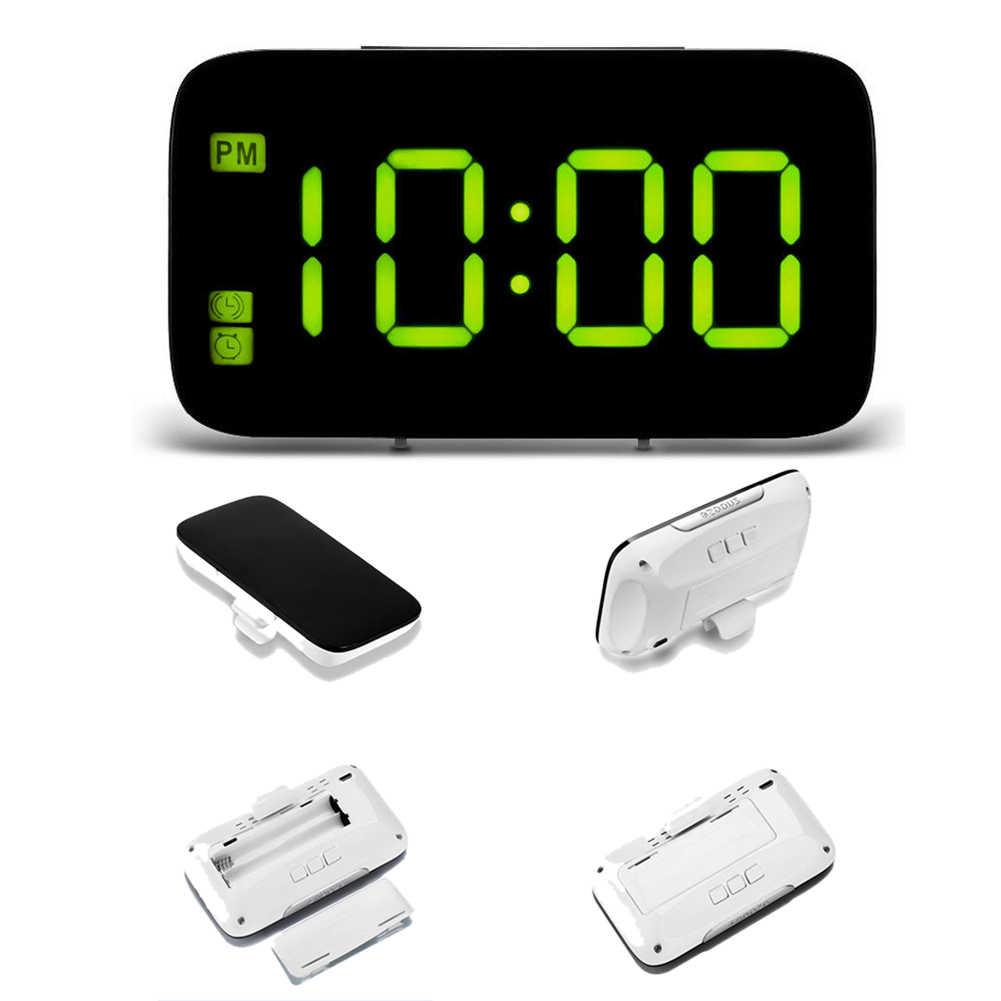 Фото Большие офисные цифровые часы для дома простое чтение голосовое управление