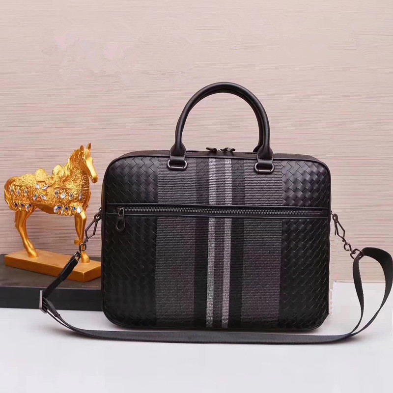 Kaisiludi embroidery leather knitting bag handbag leather briefcase business large computer bag lady bag fashion