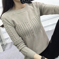 Sweater female autumn and winter 2016 loose pullover short design long-sleeve basic sweater thickening sweater