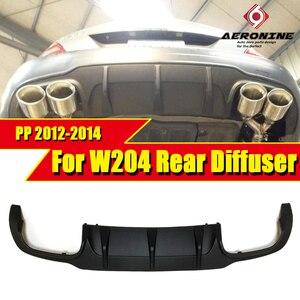 W204 rear bumper lip diffuser c63 style PP plastic Fits For Mercedes Benz C180 C200 C250 C280 300 lip diffuser&C63 bumper 12-14(China)
