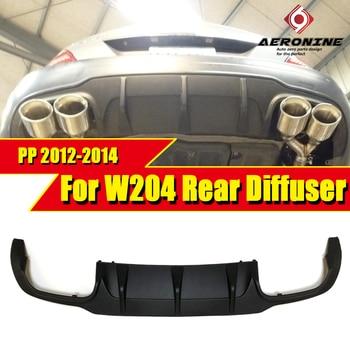 цена на W204 rear bumper lip diffuser c63 style PP plastic Fits For Mercedes Benz C180 C200 C250 C280 300 lip diffuser&C63 bumper 12-14