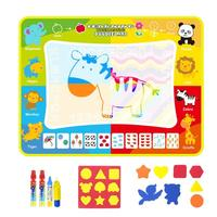 120x90cm Children Magic Water Canvas Writing Blanket Early Education Puzzle Graffiti Painting Drawing Board