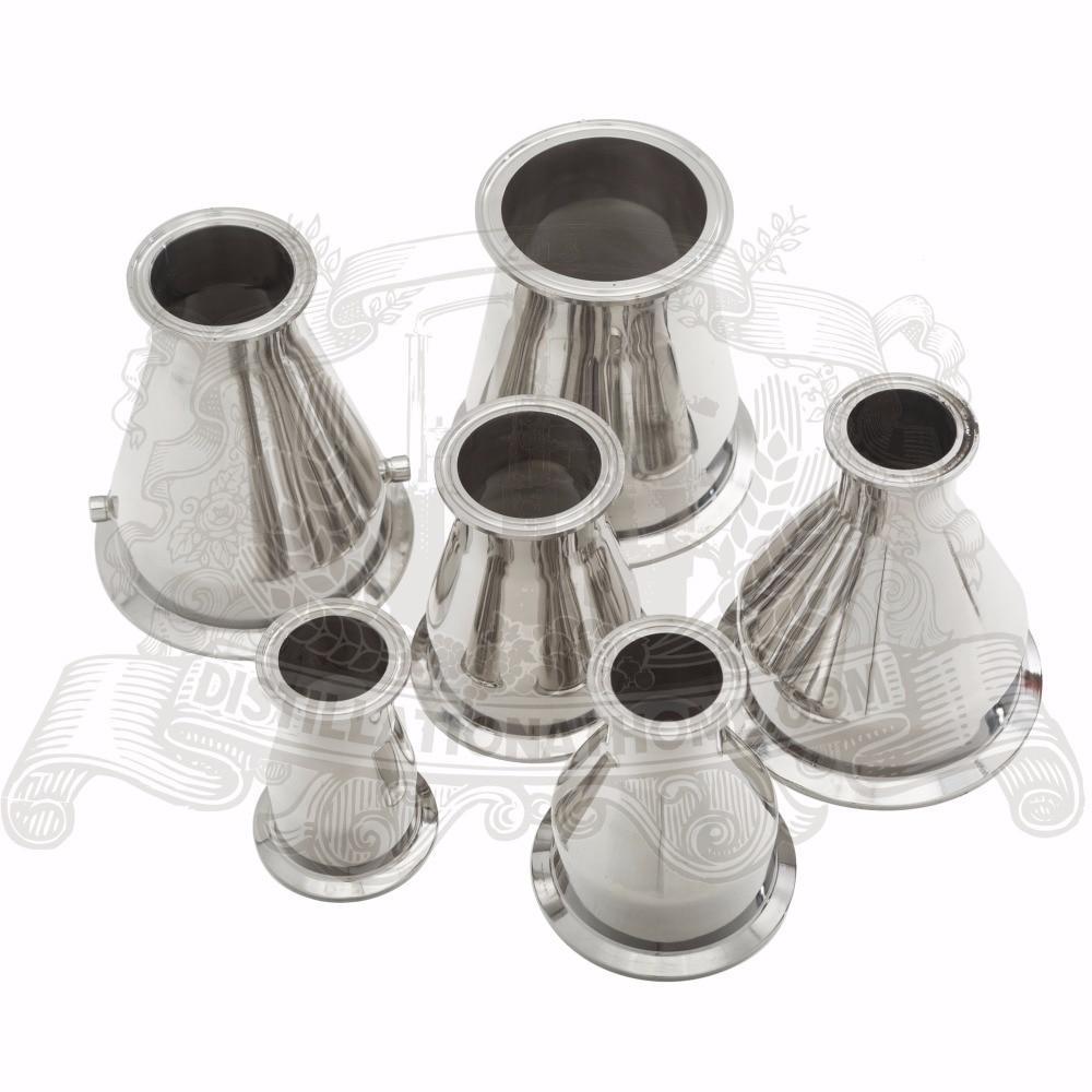 Tri- Clamp Reducer  6(154mm) OD167,7   x 2(51mm) OD64. SUS304 tri clamp tee 2 51mm od64