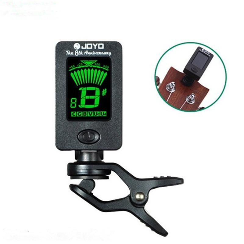 Joyo JT-01 Chromatic Clip-On Digital Tuner 360 Degree Rotatable Guitar Tuners Machines for Guitar Bass Violin Ukulele +Battery joyo jmt 03 mini clip on digital guitar tuner