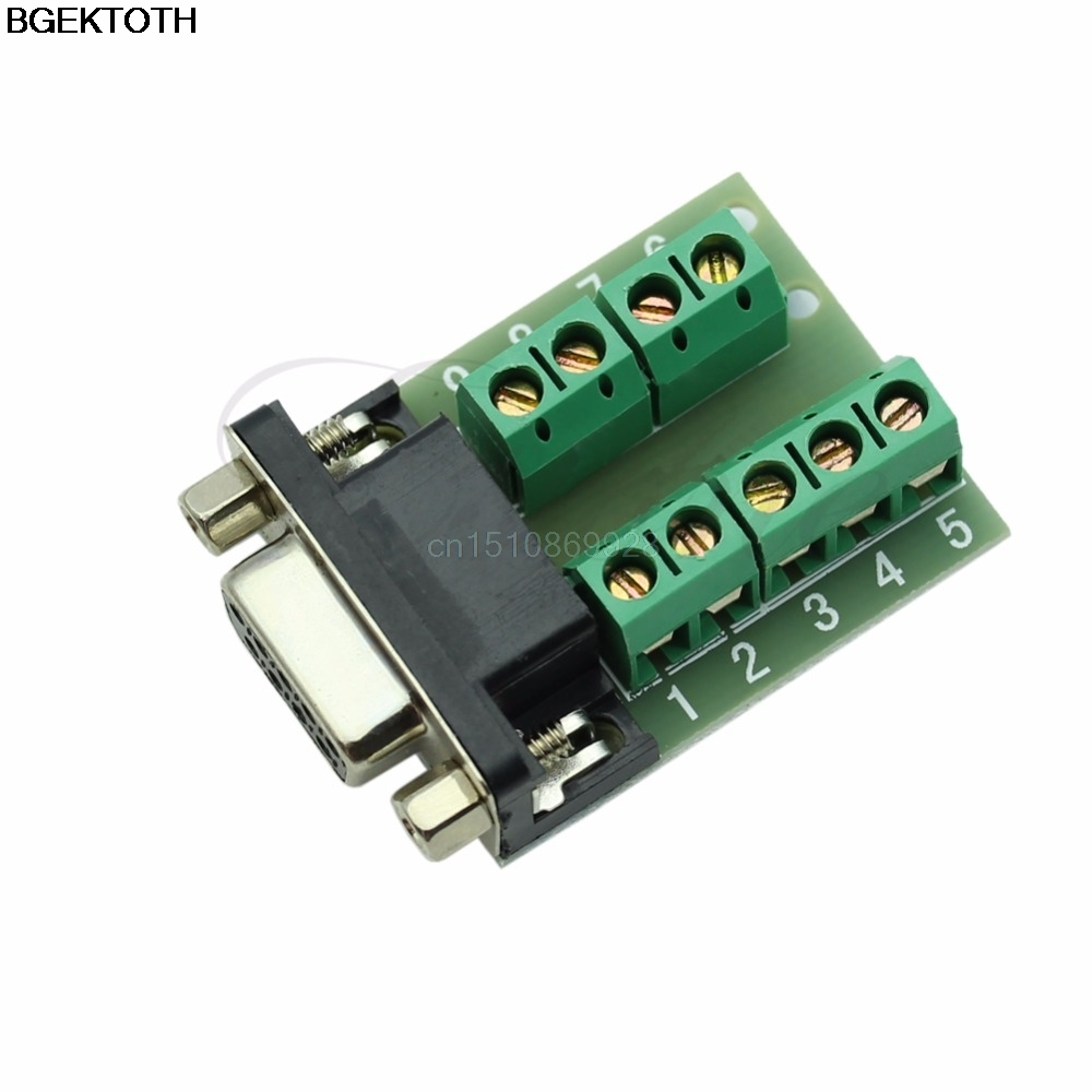 1pc RS232 Serial to Terminal DB9 Female Adapter Connector Signals Terminal Module d sub connectors db25 25pin male adapter board rs232 serial to terminal signal module