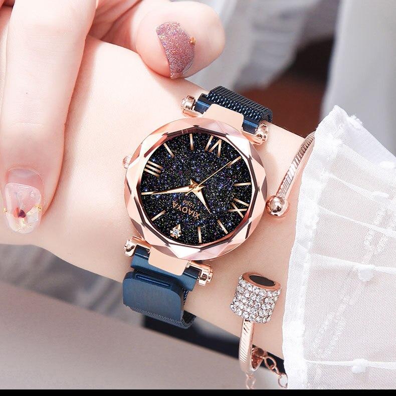 Luxury Women Watches Ladies Magnetic Starry Sky Clock Fashion Diamond Female Quartz Wristwatches relogio feminino zegarek damski diamond stylish watches for girls
