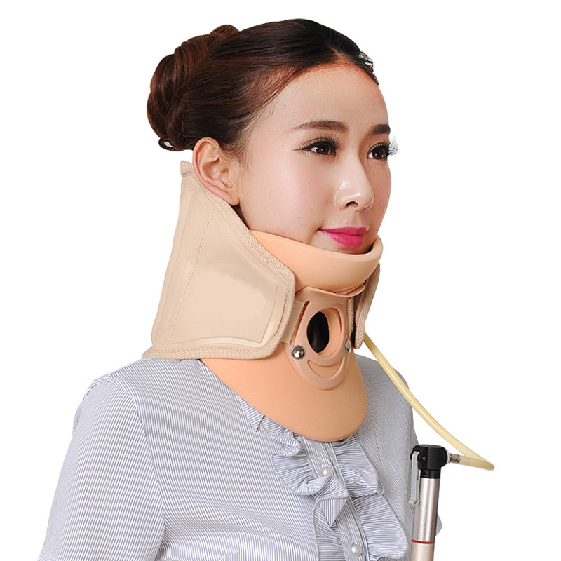 Medical Neck Cervical Traction Device Portable Home Use Neck and Upper Back Pain Relief Therapy Collar Brace neck cervical traction device inflatable collar household equipment health care massage device nursing care