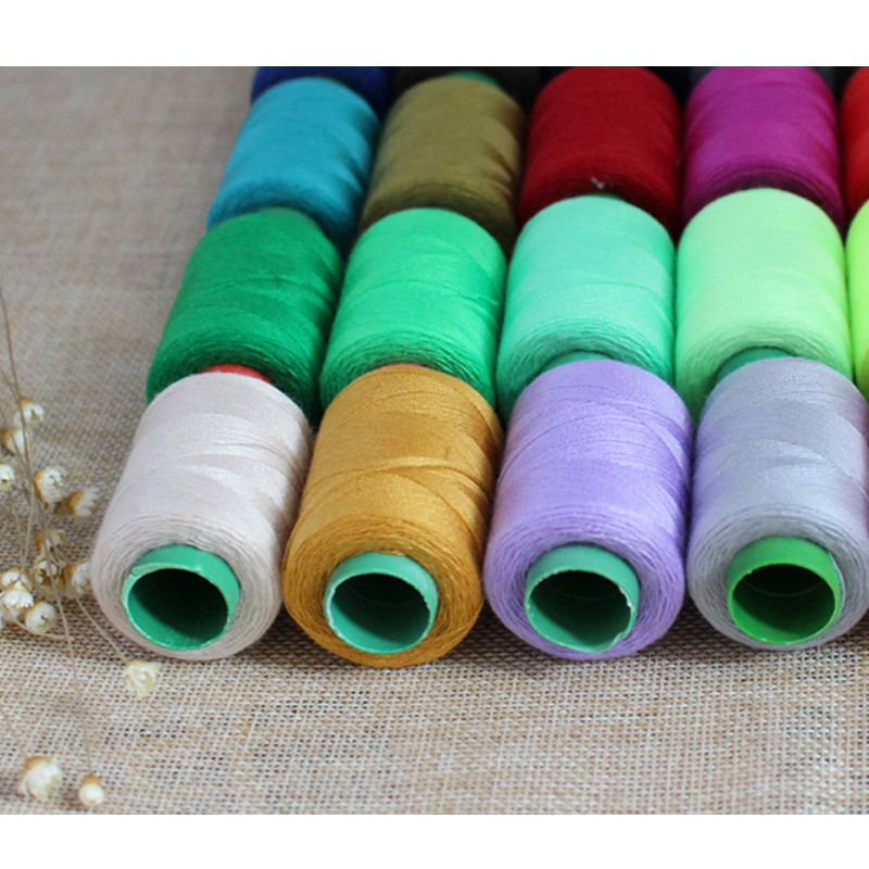 40 Pieces Rainbow Spun Polyester Threads Overlocking Sewing Machine Classy Polyester Thread For Sewing Machine