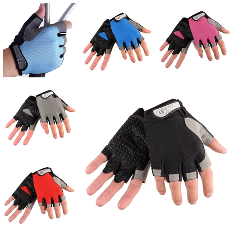 2018 Bicycle Cycling Half finger gloves Fitness Men Women Bike Gloves MTB Outdoor Mountain Non-slip Sports gloves Breathable