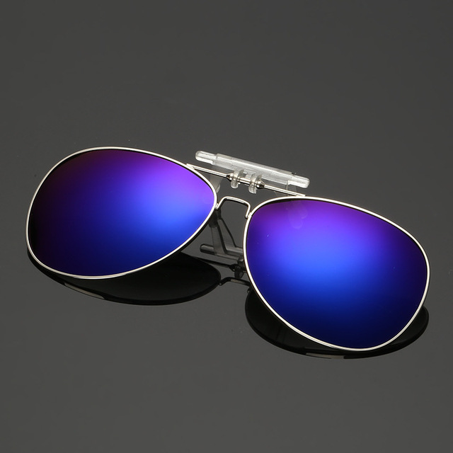 86ab2643288 Fold Polarized Clip on Sunglasses Fashion Polaroid Lens Men Women Clip  Mirror Night Vision Driving Goggle Coating Sun glasses