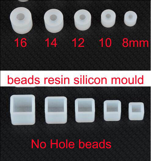 XCDIY  Silicone Mold For Square Ball Sphere Beads  Resin Silicone Mould Handmade Tool DIY Craft Epoxy Resin Molds (no Hole)