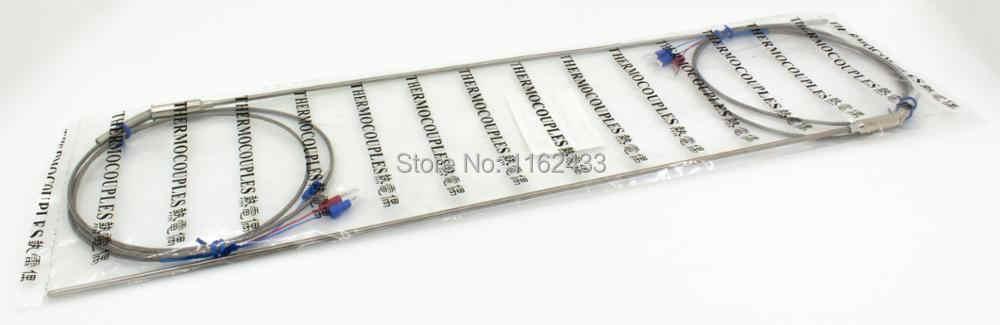 FTARP08 PT100 Tipe 1 M Dikepang Kabel 400 Mm Fleksibel Kepala Probe RTD Sensor Suhu Diameter 3 Mm 4 MM 5 Mm 6 Mm WZPK-191