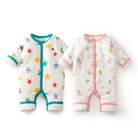 6 24M Winter Warm Baby Rompers Cotton Padded Winter Baby Girl Clothes Boy Jumpsuit Soft Touch